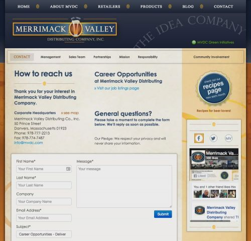 Merrimack Valley Distributing Company Recipes